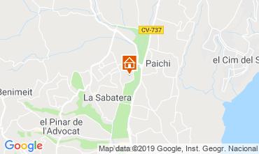 Map Moraira House 117904