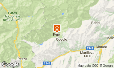 Map Peio (Pejo) Apartment 91284