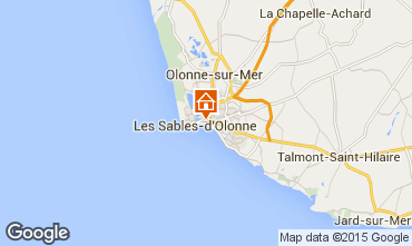 Map Les  Sables d'Olonne Apartment 77419