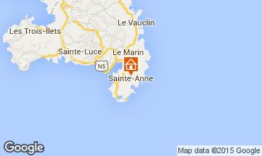 Map Sainte Anne (Martinique) One-room apartment 101293