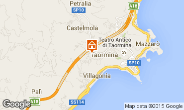 Map Taormina Apartment 68005