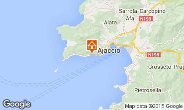 Map Ajaccio One-room apartment 7821