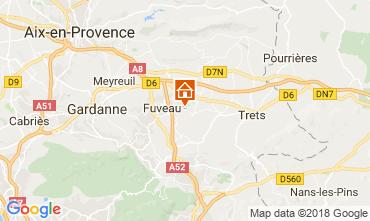 Map Aix en Provence Villa 113762