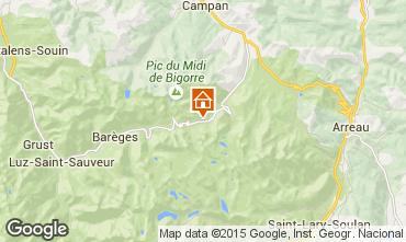 Map La Mongie Apartment 90809
