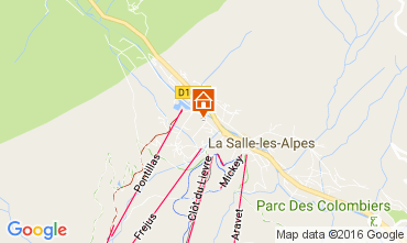 Map Serre Chevalier Apartment 106783