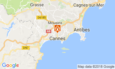 Map Cannes Apartment 114415