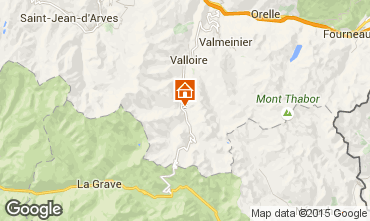 Map Valloire Apartment 3378