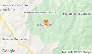 Map Les Menuires One-room apartment 15243