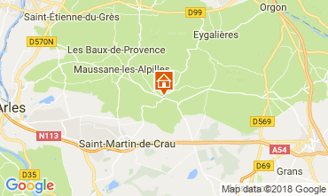 Map Les Baux de Provence Vacation rental 114985