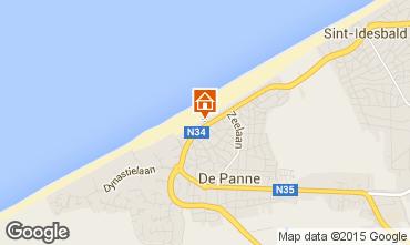 Map De Panne Apartment 9558