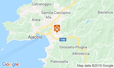 Map Ajaccio Apartment 118257