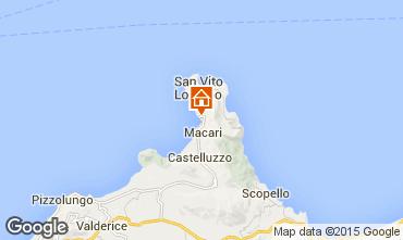 Map San Vito lo Capo Apartment 35964