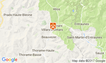 Map Val d'Allos Chalet 3208