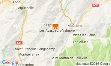 Map Valmorel Apartment 73329