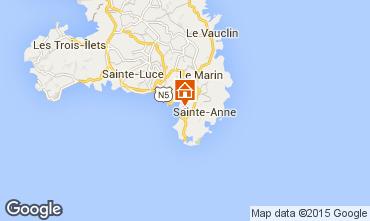Map Sainte Anne (Martinique) One-room apartment 8137