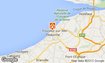 Map Deauville One-room apartment 58454
