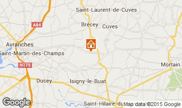 Map Mont Saint Michel Vacation rental 68684