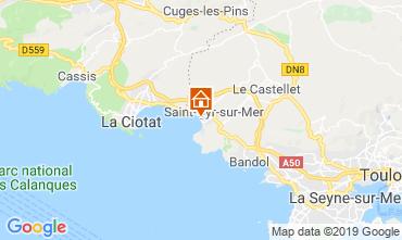 Map Saint Cyr sur Mer Villa 118107