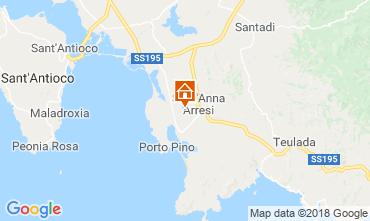 Map Sant'Anna Arresi Apartment 81457