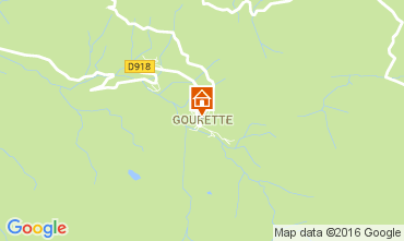 Map Gourette One-room apartment 106810