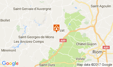 Map Chatel-Guyon Vacation rental 108589