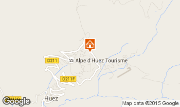 Map Alpe d'Huez Apartment 28097