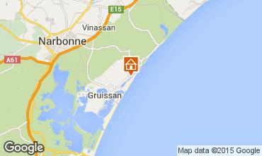 Map Gruissan Villa 6278