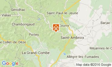 Map Saint Ambroix Vacation rental 104205