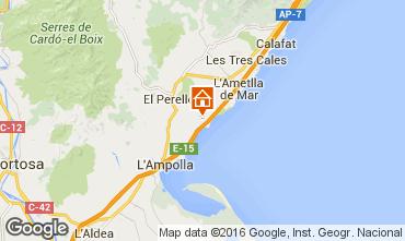 Map La Ametlla de Mar One-room apartment 102805