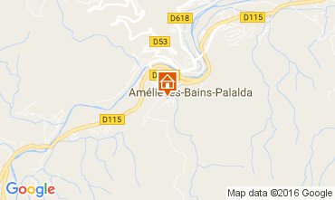 Map Amélie-Les-Bains One-room apartment 106653
