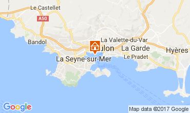Map Toulon One-room apartment 32099