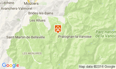 Map Courchevel Chalet 66650