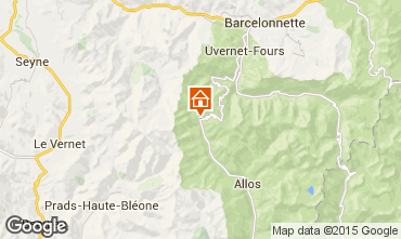 Map Val d'Allos Apartment 31691