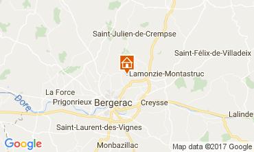 Map Bergerac Vacation rental 107715