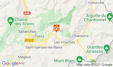 Map Chamonix Mont-Blanc One-room apartment 93266