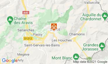 Map Chamonix Mont-Blanc One-room apartment 93266