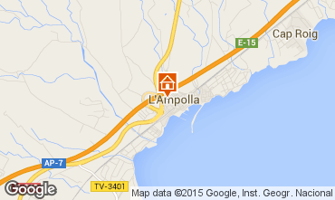 Map L'ampolla Apartment 55620