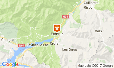 Map Embrun Apartment 108035