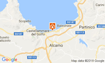 Map Alcamo Marina Apartment 108734