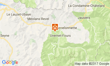 Map Pra Loup Apartment 109439