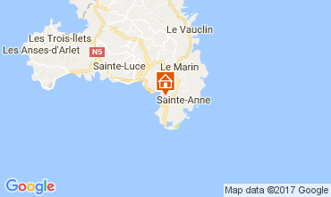 Map Sainte Anne (Martinique) Bungalow 110816