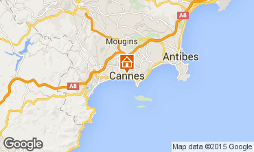 Map Cannes Apartment 17381