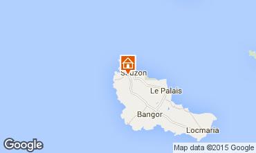 Map Sauzon Vacation rental 27025