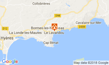 Map Le Lavandou Apartment 113832