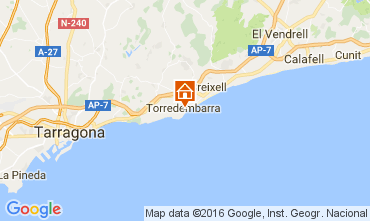 Map Torredembarra One-room apartment 43383