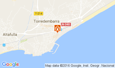 Map Torredembarra One-room apartment 43383