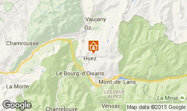 Map Alpe d'Huez One-room apartment 28