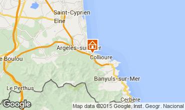Map Argeles sur Mer House 91008