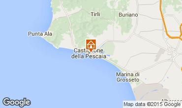 Map Castiglione della Pescaia Apartment 71855