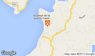 Map Sainte Anne (Martinique) One-room apartment 95418